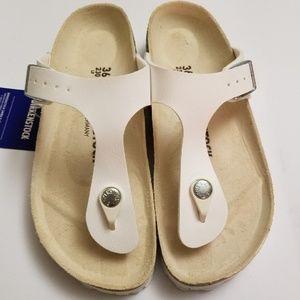 New Birkenstock Gizeh White Sandals 36